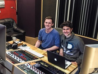 Christian Martius with Thomas Feilner at Soundation Studio